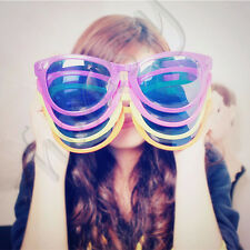 Novelty Comedy Funny Joke Glasses Sunglasses For Clown Gag Fancy Dress Party Toy