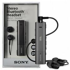 New Genuine Sony SBH54 Bluetooth Smart Stereo FM NFC Headset - Black