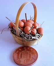 1:12th Eggs In A Basket Dolls House Miniature Kitchen Accessory