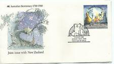 1988 Joint Issue with New Zealand Aust Bicentenary Spcl P/Mark Sydney 21 June