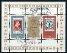 Türkei - Briefmarkenausstellung Balkanländer gestempelt 1981 Bl 20 Mi. 2574/75