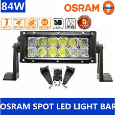 Xmas!84W 5D 7inch LED Spot Work Light Bar Offroad Driving Lamp 4WD Truck ATV