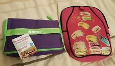 set of 2x insulated lunch bags = new = FREE P&P !!!!