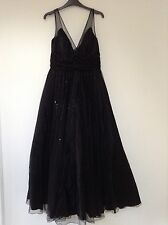 Simply Stunning Black Evening Dress by Designer Simon Ellis Size 12