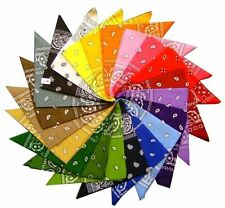 Set Of 12 Paisley Bandana's, 12  Great Colours 100% cotton, fast post 1st class