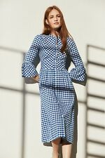 Primark Gingham Dirndl Blue White Check Womens Dress UK18 BNWT Fashion Favourite