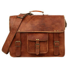 Fair Trade Handmade Large Briefcase Style Brown Leather Satchel - 2nd Quality