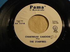 """STARFIRES """"Billys Blues b/w Chartreuse Caboose"""" 1961 Tom King Outsiders PAMA NM-"""