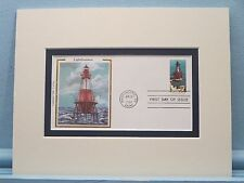 The American Shoals Lighthouse, Florida & First Day Cover of its own stamp