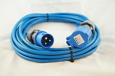Caravan/Camping Power Hook Up Cable in 1.5mm² cable 10MTR in Blue