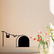 Cat Is Stupid Vivid Black mouse hole door wall window decal mural stickers Vogue