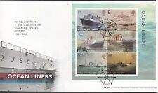 GB 2004 FDC Ocean Liners Minisheet special handstamp Southampton, stamps