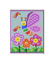 Butterfly Garden~Large Pony Bead Banner Pattern Only