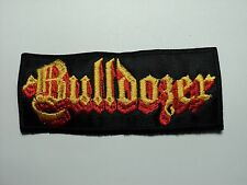BULLDOZER  YELLOW  LOGO  EMBROIDERED PATCH