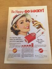 Retro Reproduction Advertising Themed Postcard - Lucky Strike Cigarettes - NEW