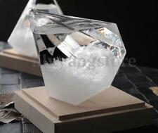 Storm Glass Crystal Diamond Shape Ornament Weather Forecaster Home Decor Gift