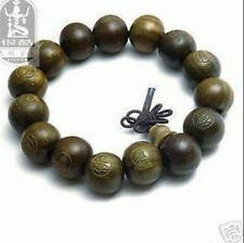 Tibetan Sandalwood Carved Buddha Prayer Beads Bracelet shipping free