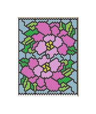 Oriental Peonies~Beaded Banner Pattern Only