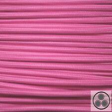Textilkabel Stoffkabel Lampen-Kabel Stromkabel Elektrokabel Pink 3adrig