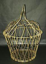 Obstkorb 50er Jahre mid century Draht Gitter Multikorb Alu vergoldet Korb 50s