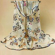 Classic Womens Scarf Lace edging Butterfly Flower Long Scarves Wrap Shawl Stole
