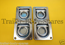 FREE 1st Class Post - 4 x Recessed Lashing Rings Tie Down Ifor Williams Trailer