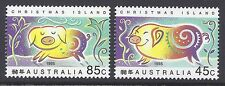 1995 CHRISTMAS ISLAND YEAR OF THE PIG SET OF 2 FINE MINT MNH/MUH