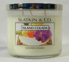 Bath & Body Works Slatkin & Co. ISLAND COLADA  3-Wick Filled Candle 14.5 oz