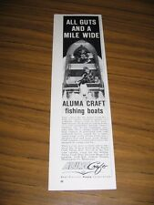 1962 Print Ad Aluma Craft Aluminum Fishing Boats Johnson Outboard Motor