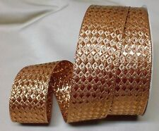 """5 Yds. QUENTIN METALLIC COPPER RIBBON  1 1/2"""" Wide"""
