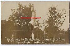 alte Foto Ak, Turn Verein Montabaur, Eugen Gerstung, Handstand im Speichgriff