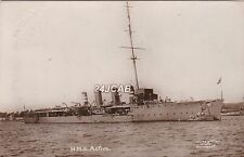 "Royal Navy Real Photo. HMS ""Active"" Scout Cruiser. Mailed by Crew Member!  1912"
