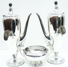Silver Cafe Au Lait Set, Sheffield 1921, John Round & Son Ltd