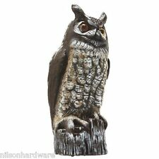 """16"""" Great Horned Owl Lawn Ornament Scare Crow Pest Repellent Decoy OW-6"""