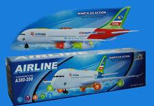 Bambini/Bambino modello elettrico aereo a380 Airbus Con Luci & Suoni Giocattolo Regalo UK