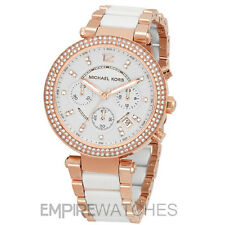 *NEW* MICHAEL KORS LADIES PARKER ROSE GOLD WHITE WATCH - MK5774 - RRP £229