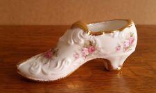 Vintage Paragon Porcelain Pink Floral Shoe Victoriana Rose
