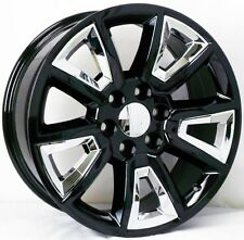 22 INCH 2015 YUKON DENALI REPLICA RIMS AND TIRES SIERRA SILVERADO TAHOE ESCALADE