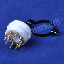 1pc Gold Teflon 8 Pin EL34 KT88 6SN7 6550 5AR4 5U4G 6L6 274B Tube/Valve Socket