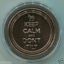 KEEP CALM and DON'T TILT - Brass card guard cover with AU back logo