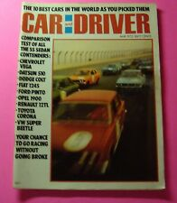 CAR AND DRIVER MAGAZINE MAY/1972...COMPARISON TESTS ON SEDAN CONDENDERS