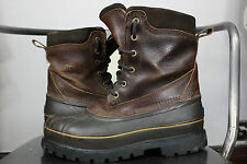 Sorel coalhurst boots 8 snow winter insulated waterproof brown leather rubber