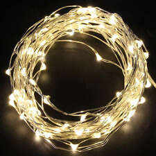 20 50 100 LEDs Wire String Fairy Party XMAS Wedding Christmas Lights Battery