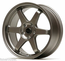 "ULTRALITE UL52 18"" x 9J ET35 5x114.3 TITANIUM BRONZE ALLOY WHEELS SET TE37 Y2969"