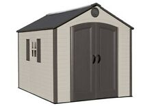 Lifetime Storage Shed 60056 8 x 10 With Deluxe Molding Full-length Skylight