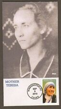 2010 MOTHER TERESA ~ USA STAMP ~ BGC#5 FIRST DAY COVER