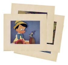 PINOCCHIO (1940) Exquisite deluxe lithograph card set for NYC premiere FINE