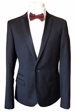TOPMAN MENS BLACK TUXEDO JACKET DINNER SUIT BLAZER TUX FORMAL SZE 42uk NEW Rp£95
