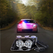 New 8 LED Car Police Emergency Warning Hazard Strobe Dash Flash Light Blue & Red