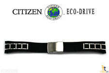 Citizen Eco-Drive AT4027-06E 25mm Black Polyurethane Stainless Steel Watch Band